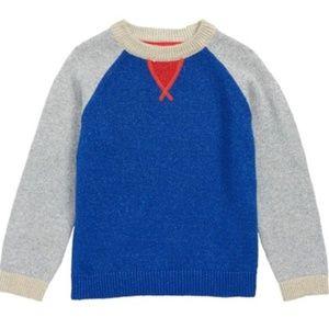 Mini Boden Metallic Blue, Gray, Red Sweater NWT